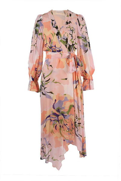 Delirium Wrap Dress in Lilac Dresses Ginger & Smart