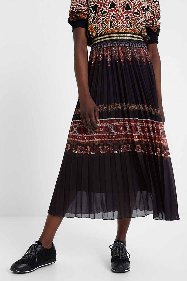 Alexandra Boho Pleated Skirt