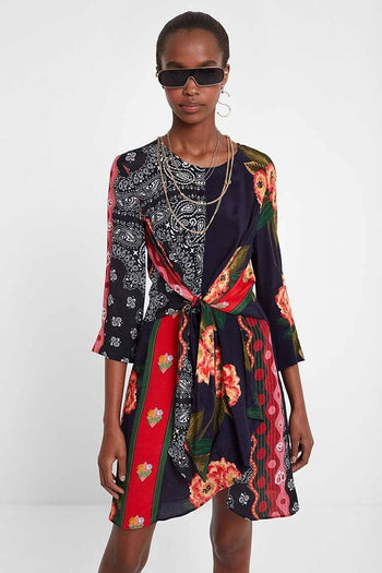 Dana Floral Tie Dress