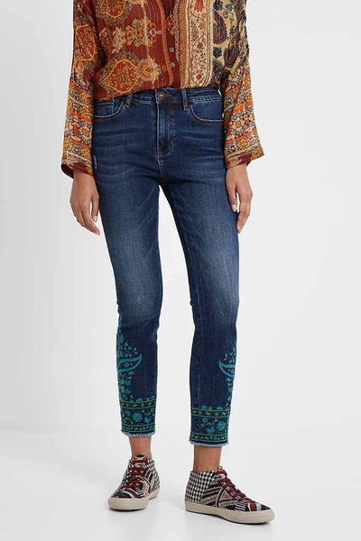 Indo Japan Skinny Denim Pants Bottoms Desigual