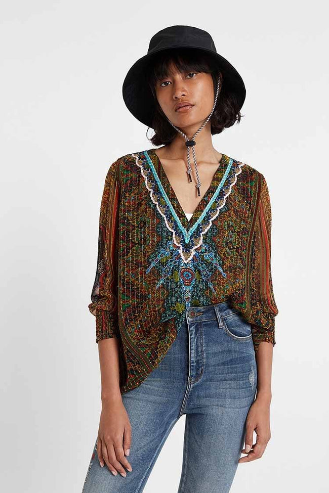 Yamila Boho Lurex Blouse | FINAL SALE