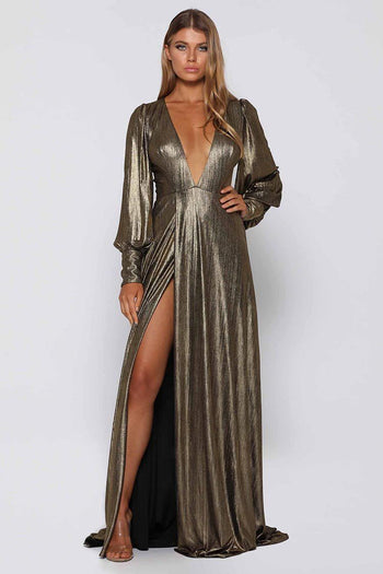 Dion Gown in Gold