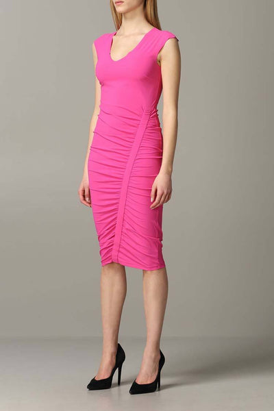 Draped Sheath Midi Dress in Orchid Dresses Patrizia Pepe