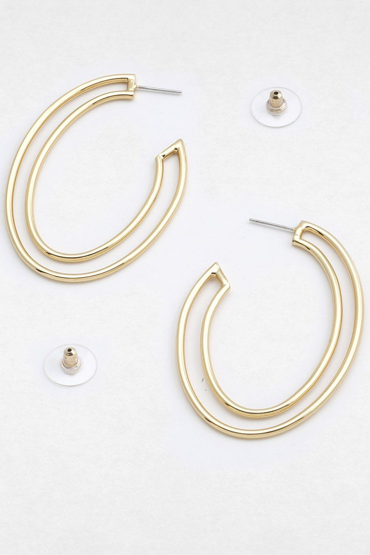Papi Oval Hoops in Gold