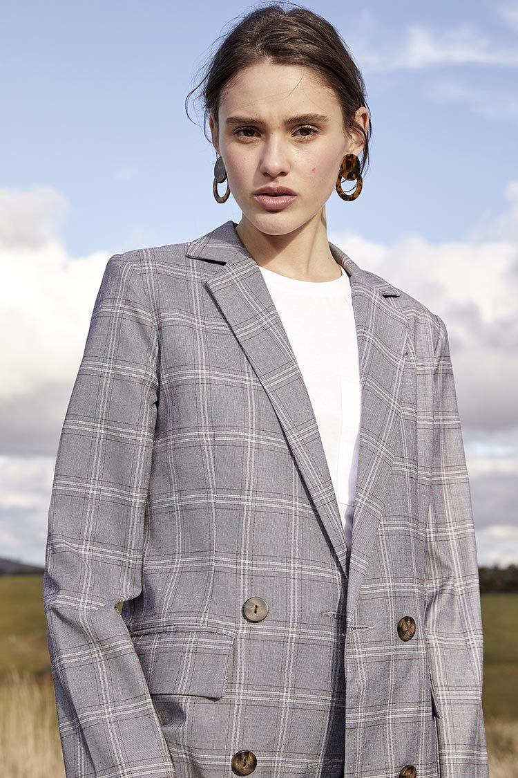 Dulcie Jacket in Check | FINAL SALE