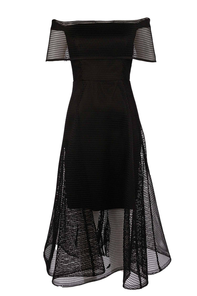 Cara Mesh Dress in Black by Eileen Kirby Frockaholics.com