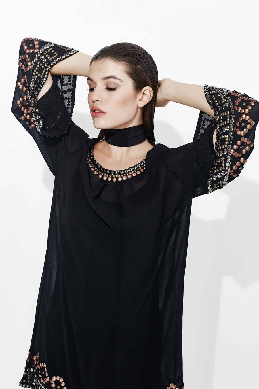 Embellish Me Dress in Black by Curate Frockaholics.com