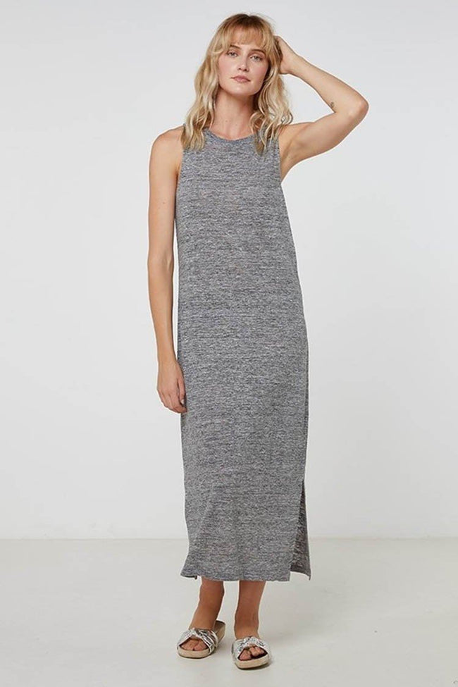 EC Linen Tank Dress in Grey Marle