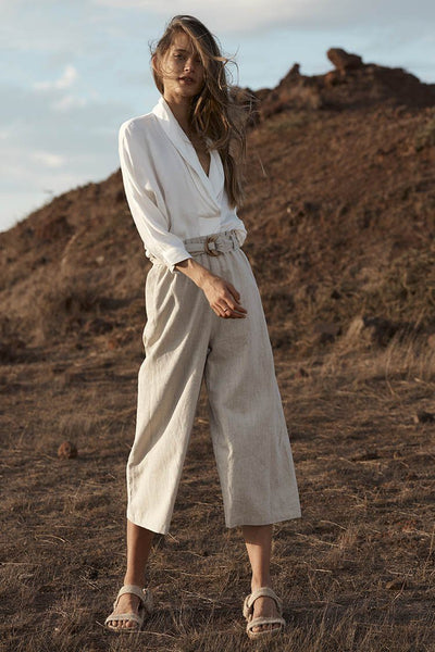 Louna Pant in Natural Bottoms Elka Collective