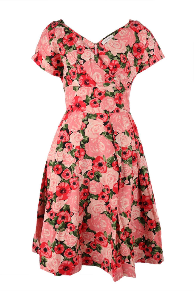 Gabriella Dress in Paris Rose Garden by Emily and Fin Frockaholics.com
