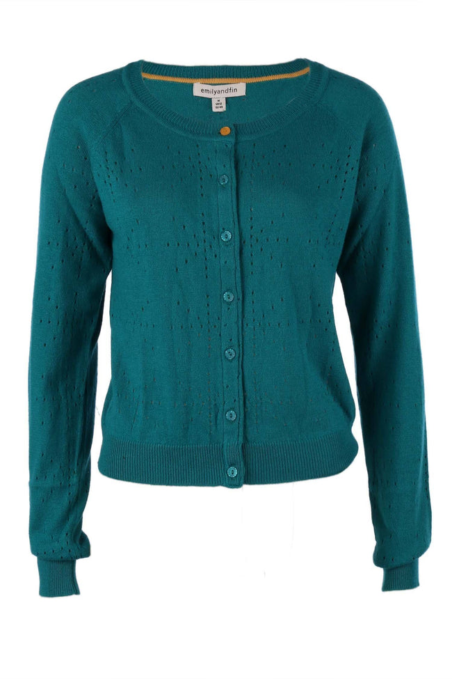 Clementine Cardigan In Cashmere Blend Teal