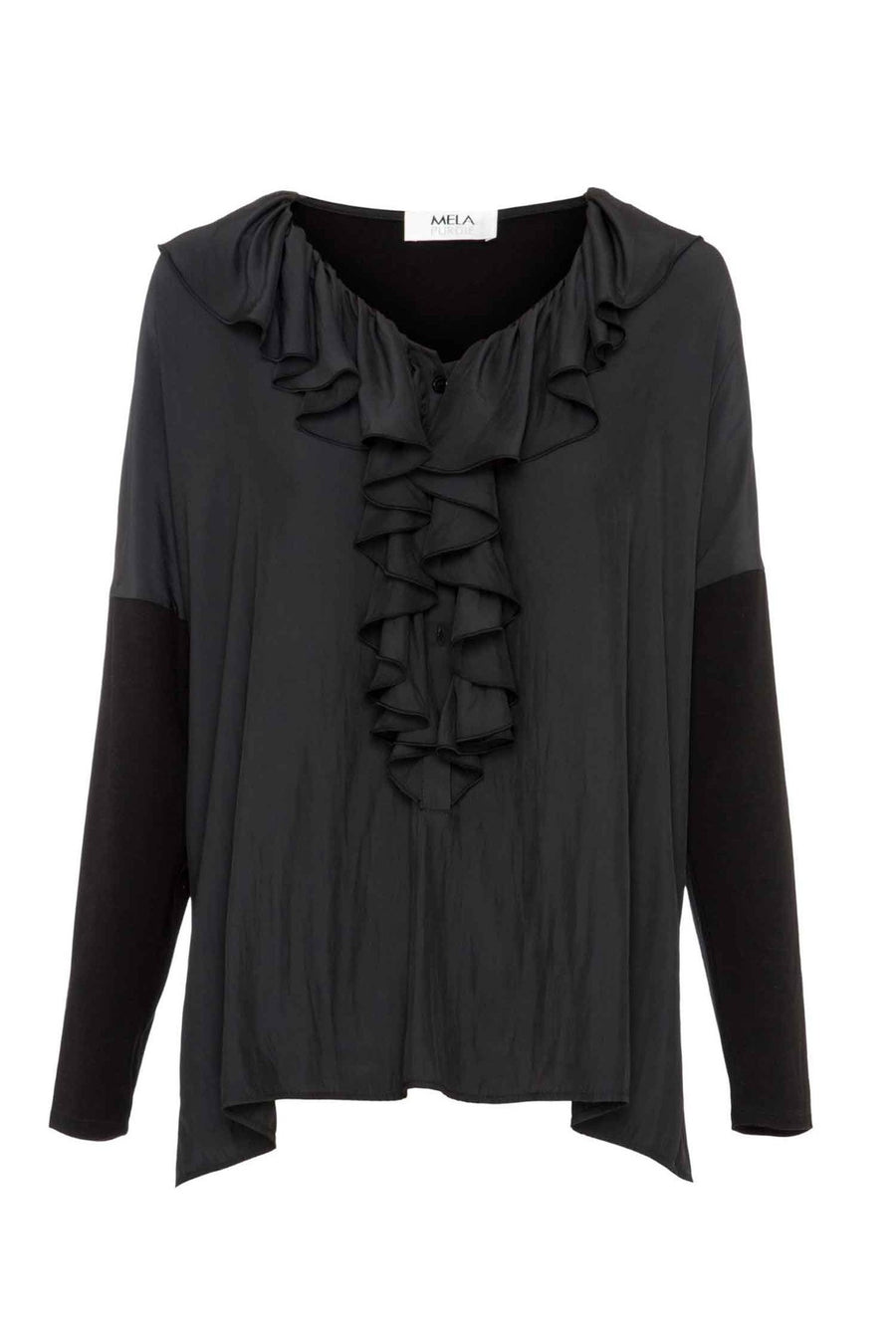 versaille-spliced-blouse-in-black-by-mela-purdie