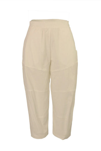 Cropped Tuscan Pant in Straw