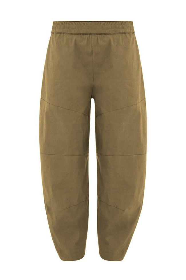 Cropped Tuscan Pant in Raffia