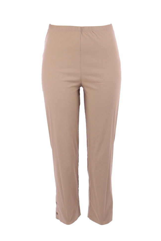 Cropped Stud Pant in Almond