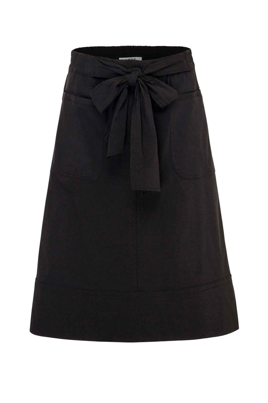 Tie Skirt  in Black