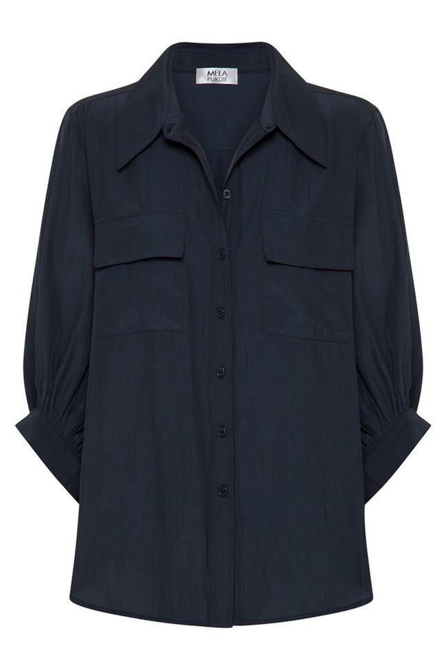 Verandah Blouse in French Navy