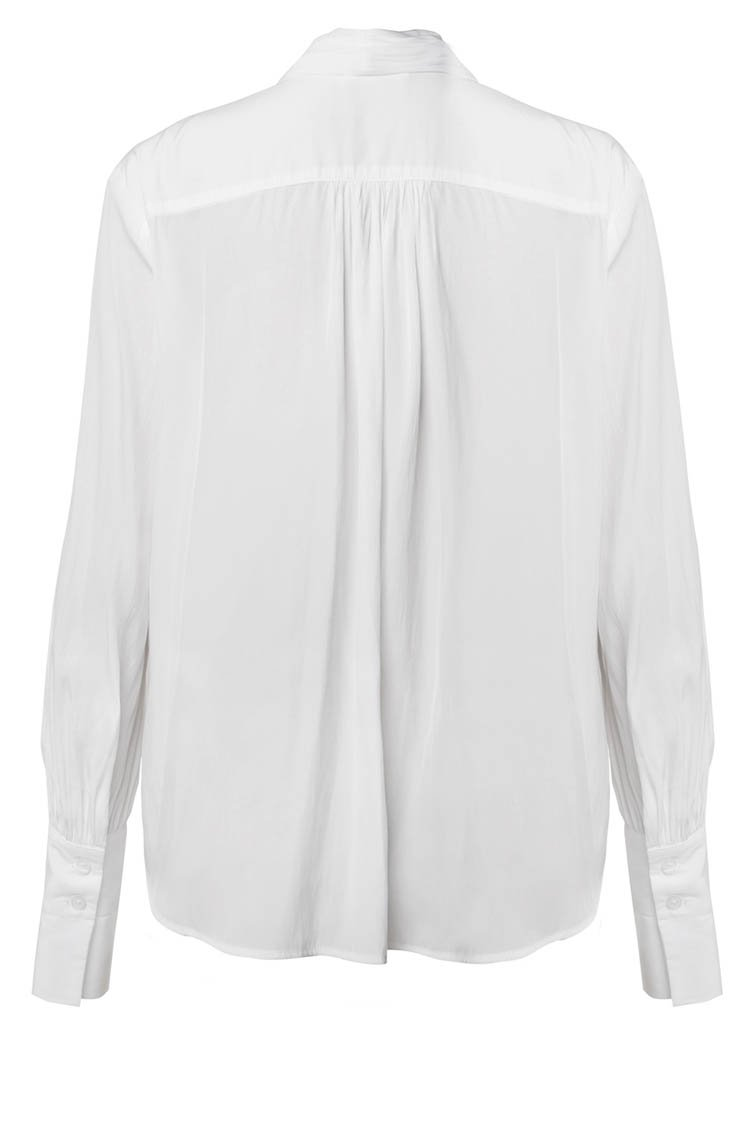 Wrap Blouse in White