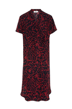 Wrap Tulip Dress in Scarlett Floral