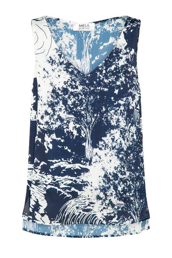Audrey Tank in Marlin Print