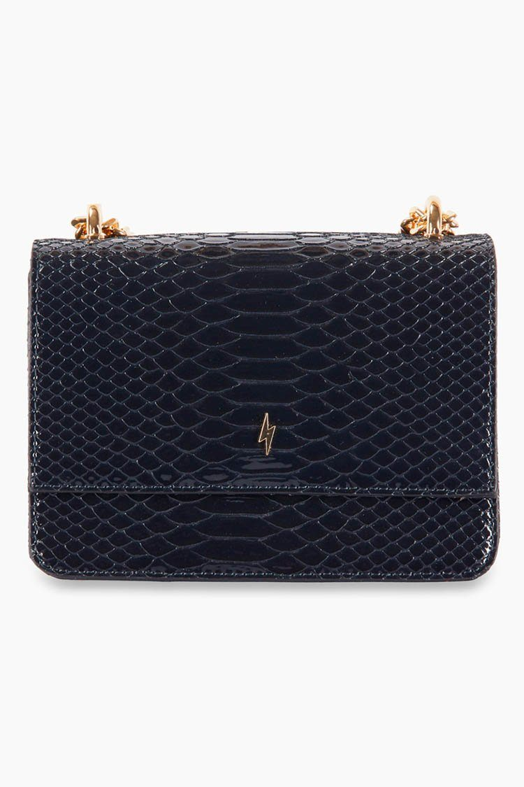 Mini Christy Top Handle Bag in Dark Navy