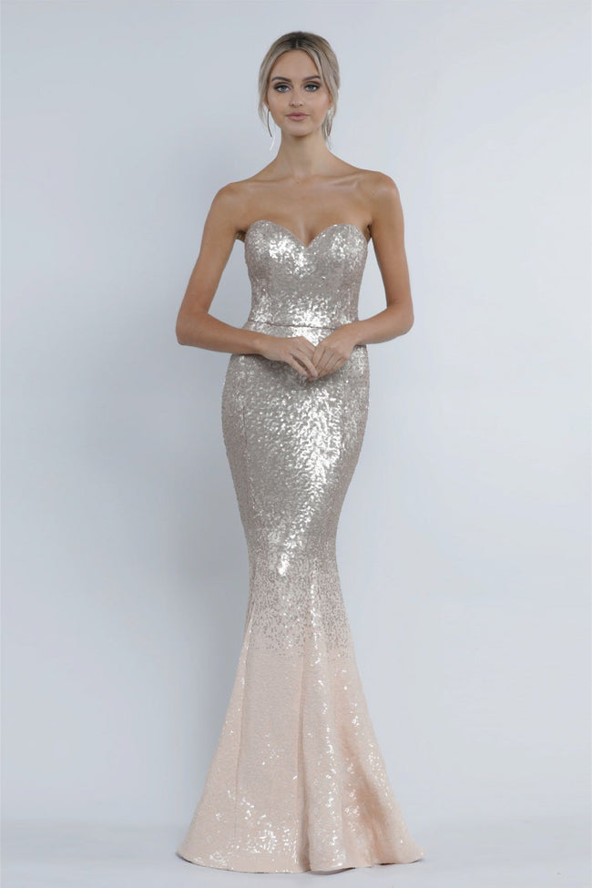 Lauren Sweetheart Sequin Gown