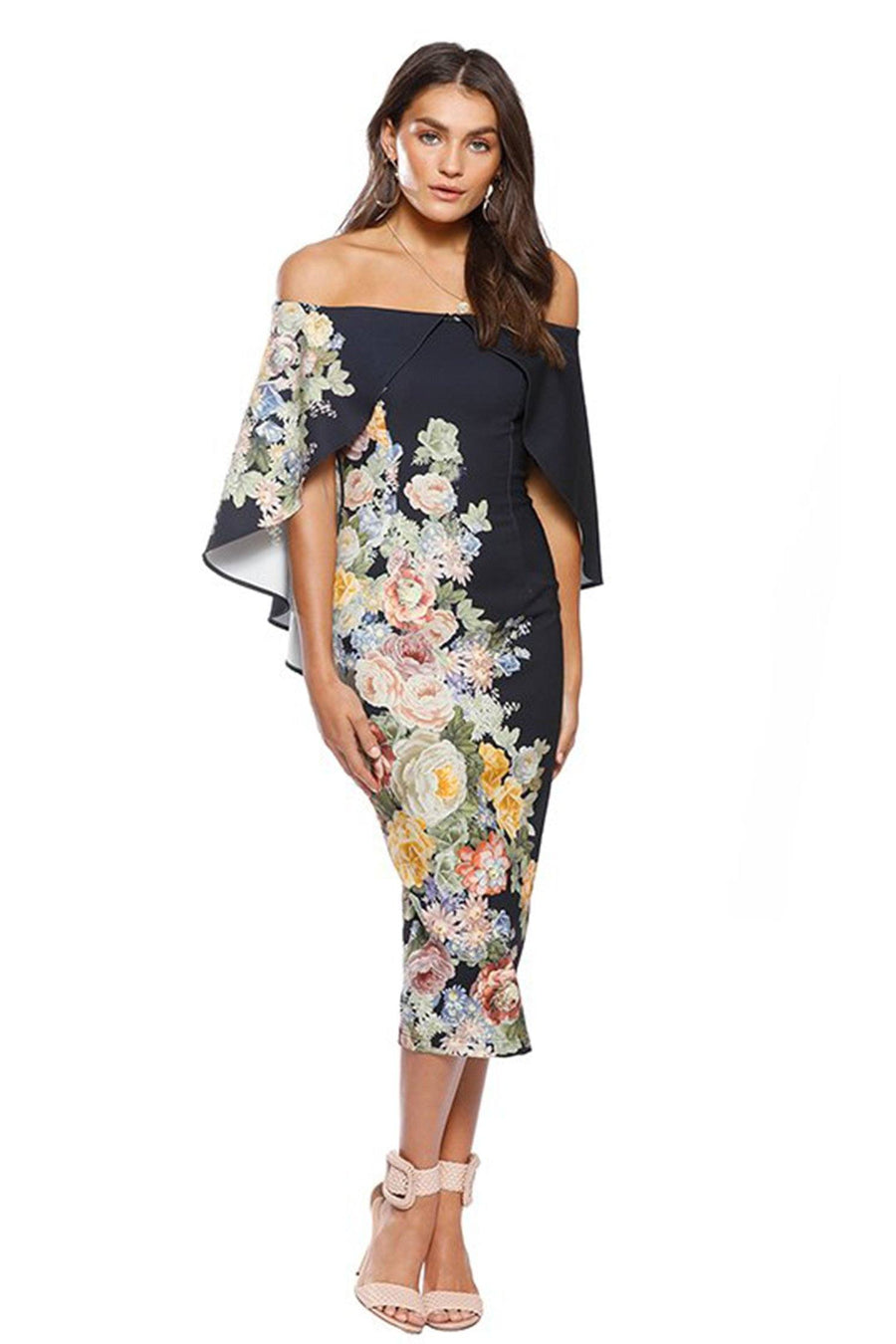 Flower Garden Shoulder Midi