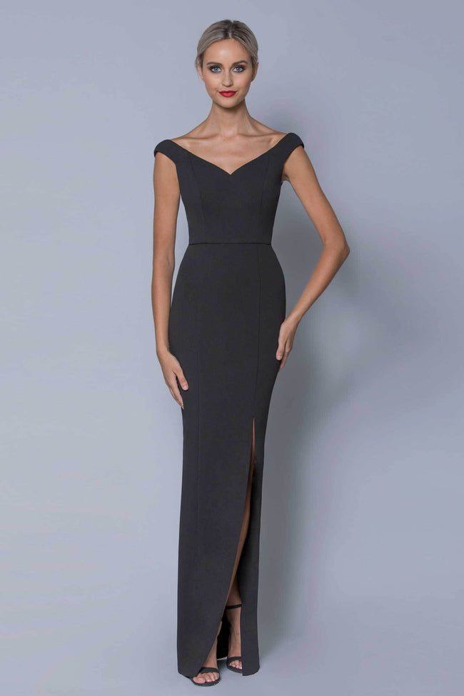 Shop Online Pandora V-Neck Gown by Bariano  Frockaholics Dresses