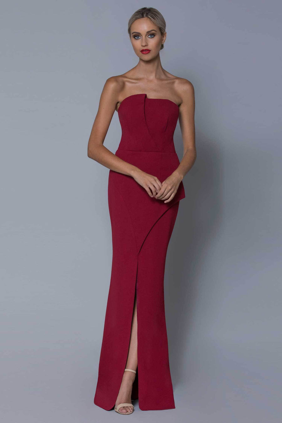 Pia Strapless Gown by Bariano | Frockaholics