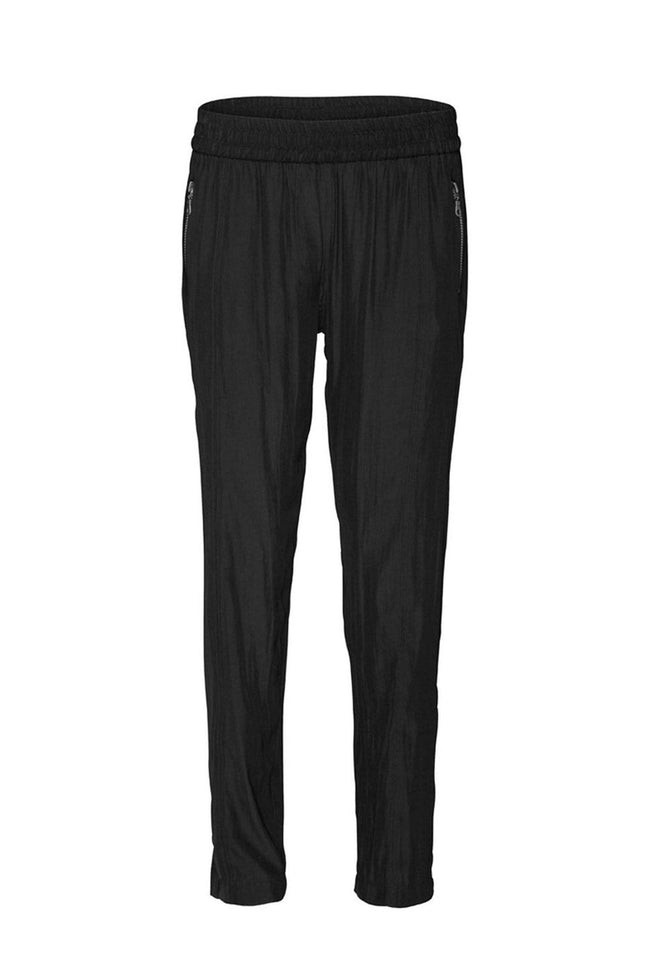 Soft Zip Pant in Black