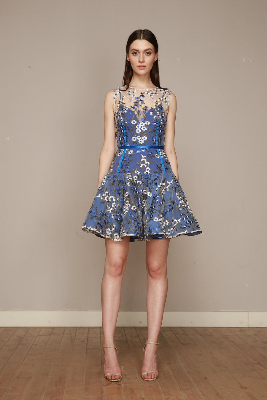 Poppy Cobalt Mini Dress