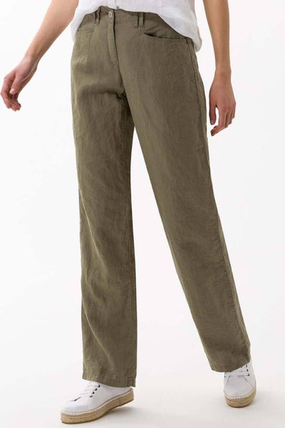 Farina Wide Leg Pants in Olive Bottoms Brax