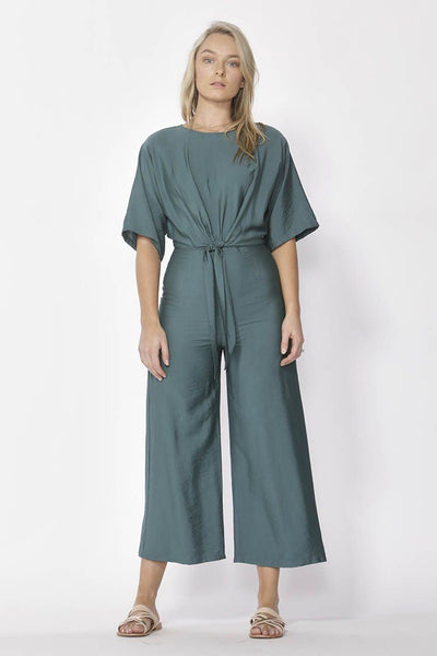 Messina Wide Leg Jumpsuit in Jade Jumpsuit / Playsuit Fate + Becker