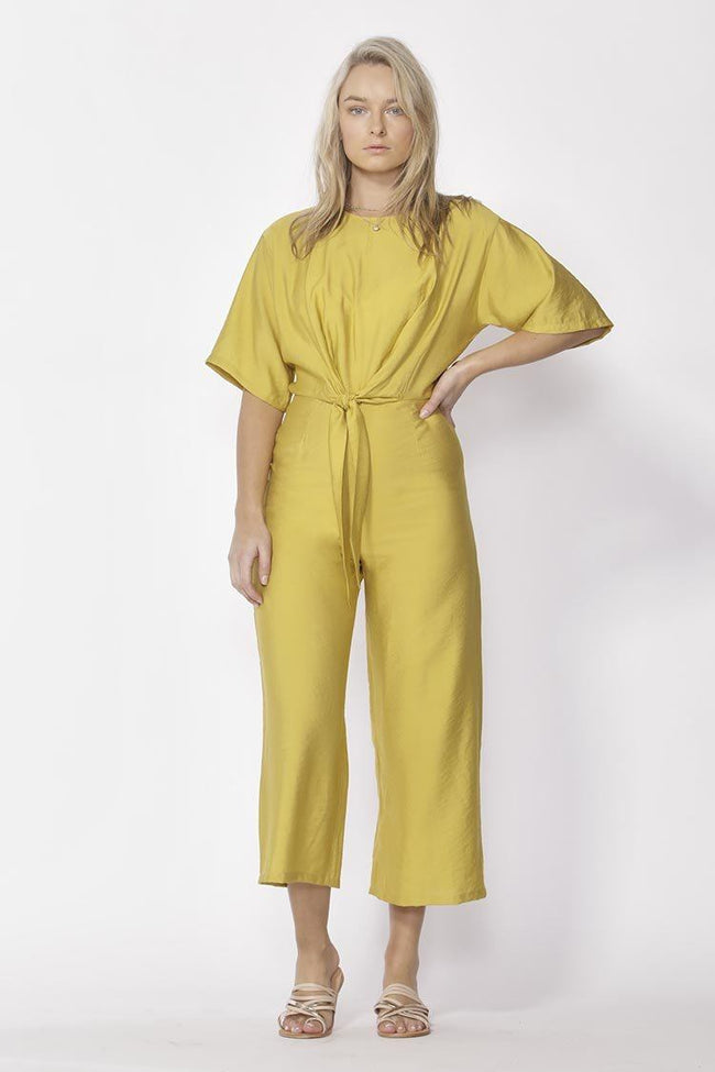 Messina Wide Leg Jumpsuit in Mustard