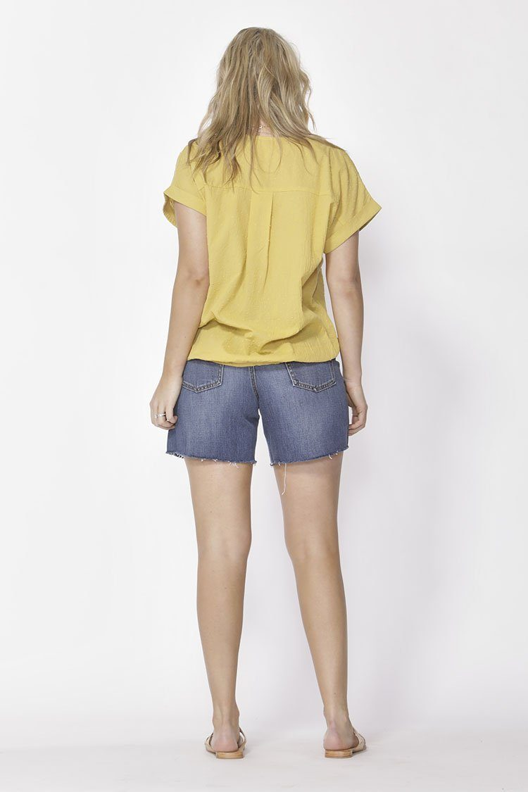 Piece Of Cake Top in Mustard