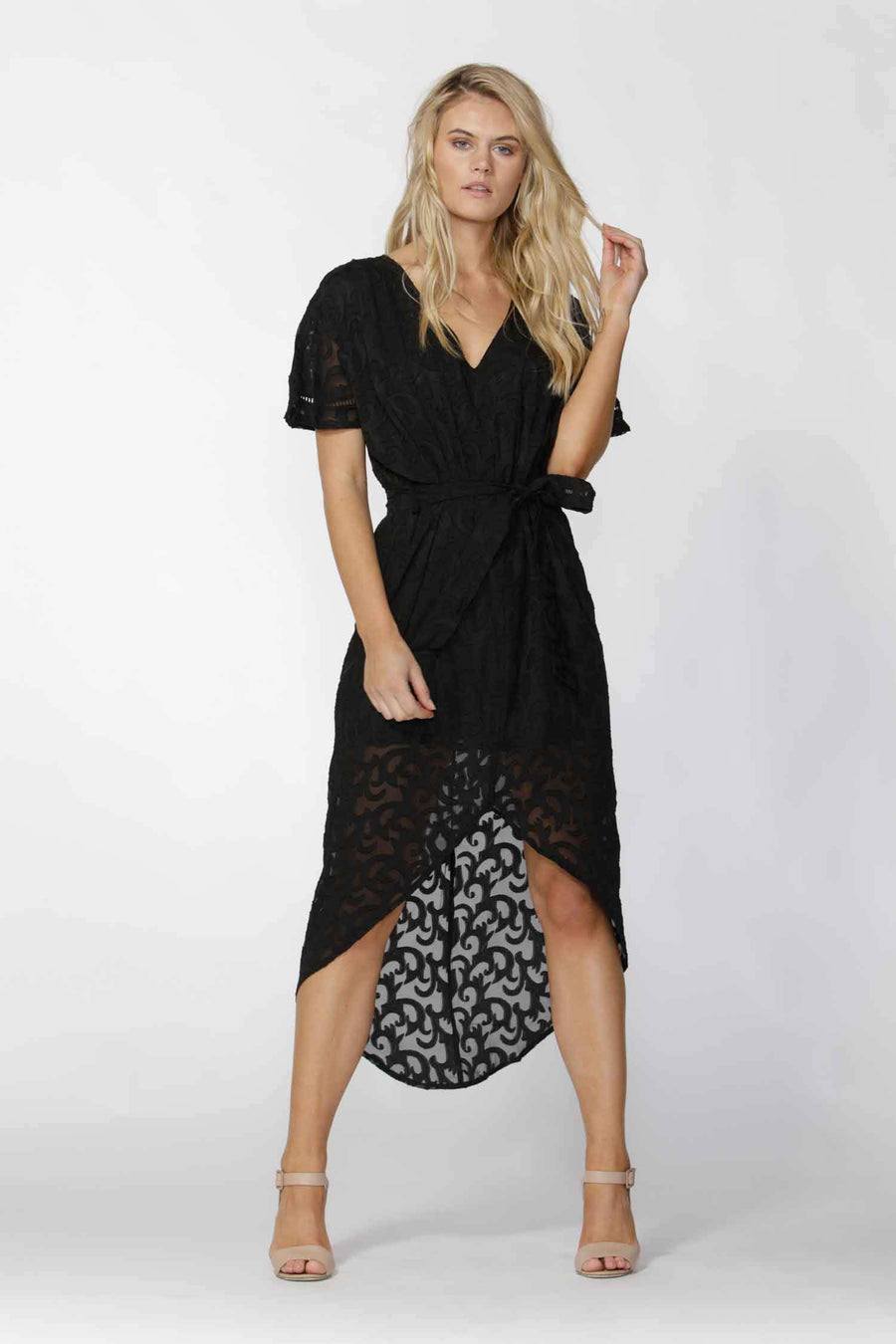 Shop Online Maylou Tie Waist Maxi Dress by Fate + Becker  Frockaholics Dresses