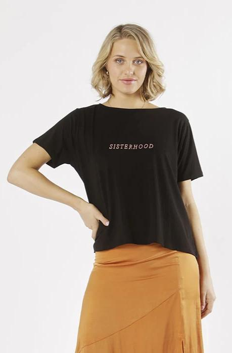 Sisterhood Tee in Black