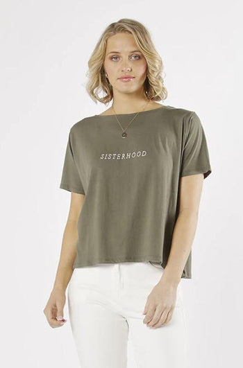 Sisterhood Tee in Khaki