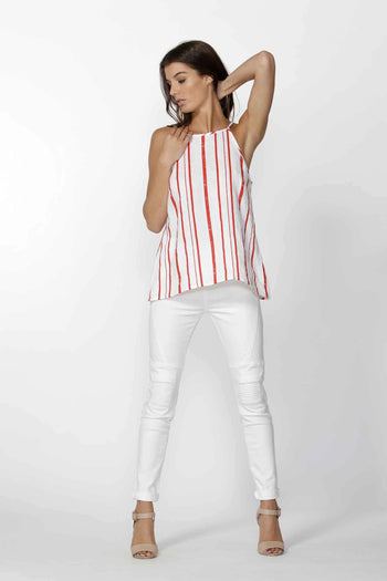 Adah stripe Cami by Fate + Becker Frockaholics.com