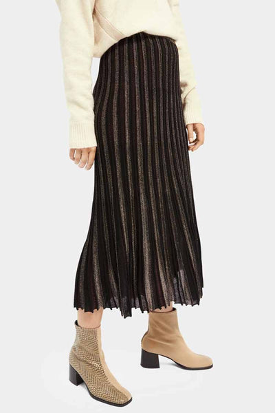 Festive Knitted Lurex Skirt Bottoms Maison Scotch