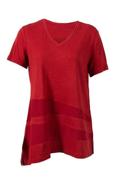 Fetch V-Neck Top in Paprika Tops Verge