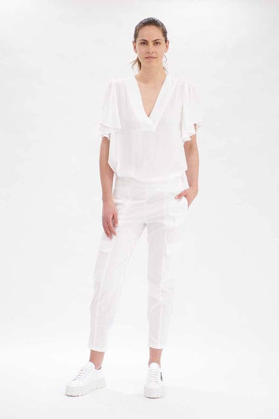 Flutter T in White Tops Mela Purdie