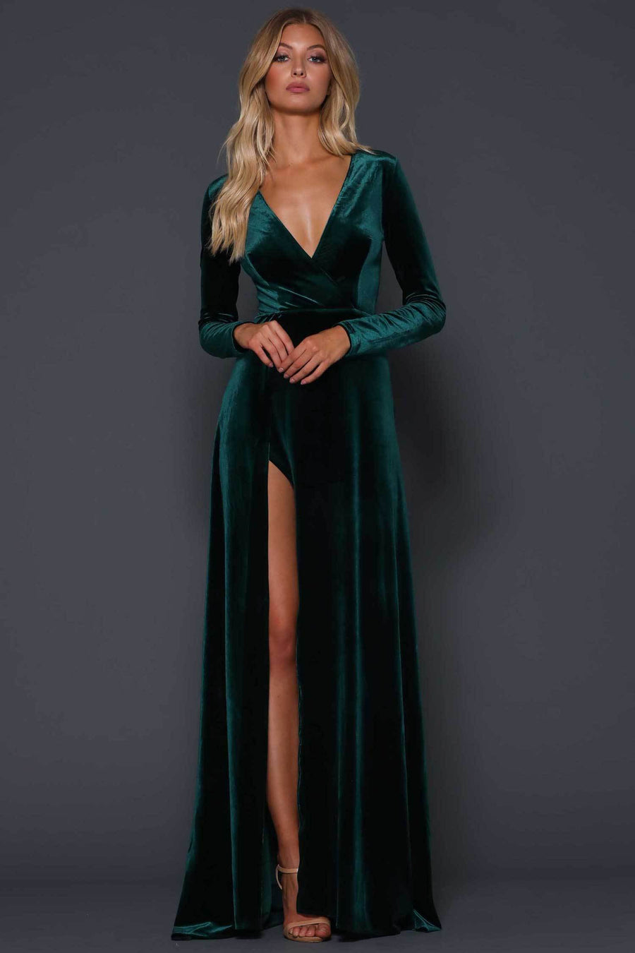 Fontaine Dress in  Emerald Green