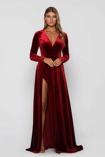 Fontaine Gown in Wine