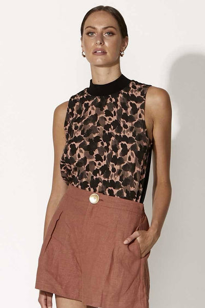 Forever Young Top in Abstract Animal Tops Fate + Becker