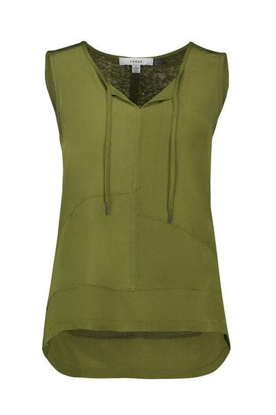 Freya Tank in Seaweed Tops Verge