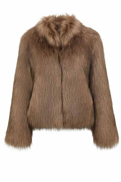Fur Delish Jacket in Mocha Jackets & Outerwear Unreal Fur