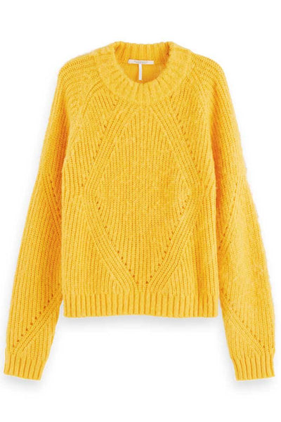 Fuzzy Knit in Golden Sun Tops Maison Scotch