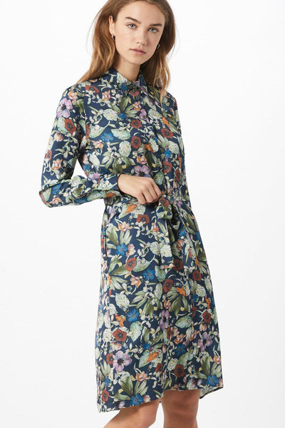 Gillian Belted Shirt Dress in Floral Dresses Brax