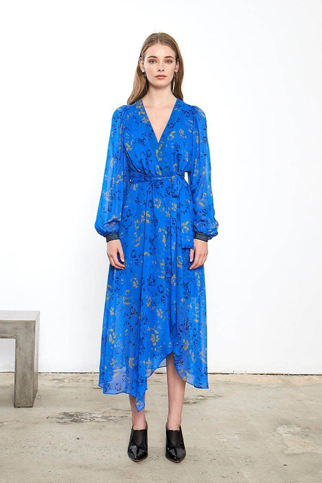 Aquiver Wrap Dress